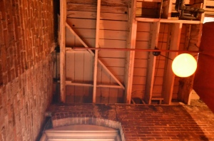 The former elevator shaft in which Nina's brick lies.