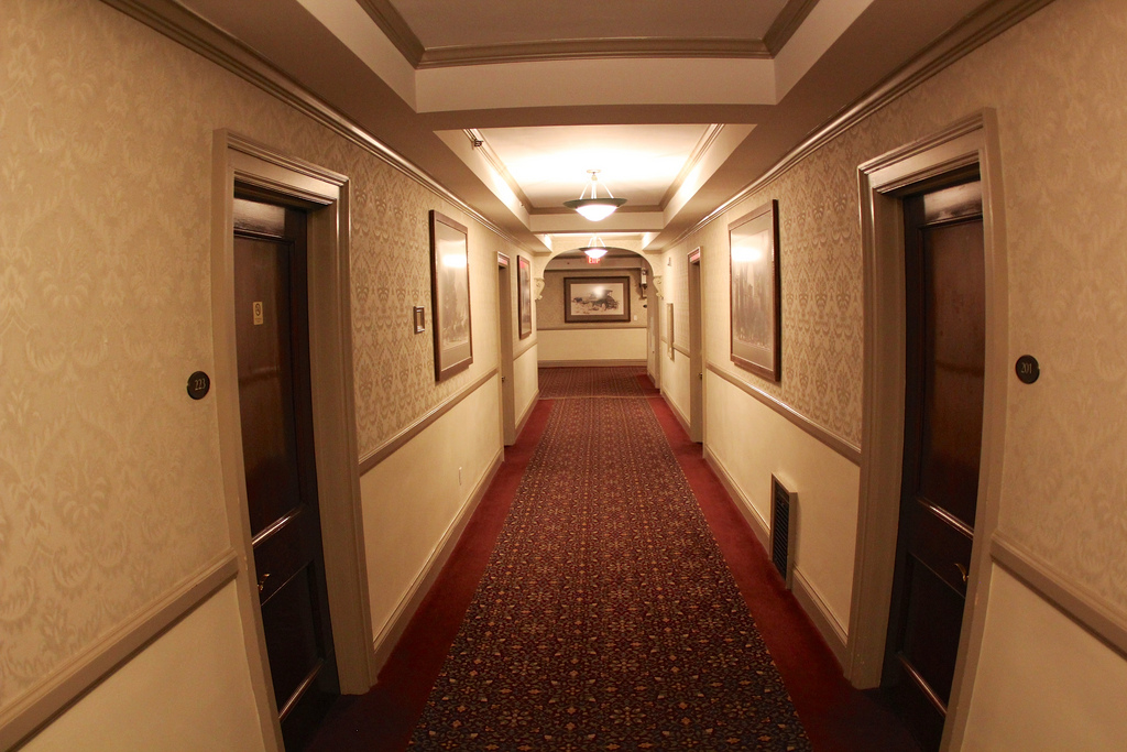 Haunted road trip the stanley hotel of estes park for Hallway photos
