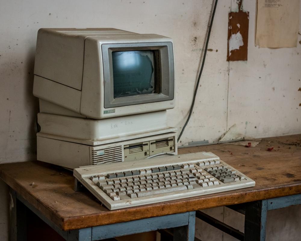 abandoned computer