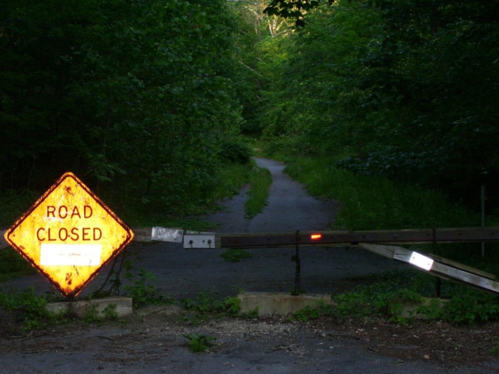 Helltown Road Closed