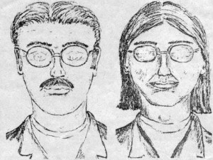 Police composite sketch of the murder suspects.