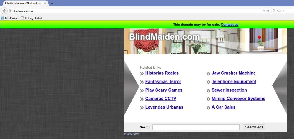 Blind maiden website