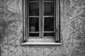 old woman window